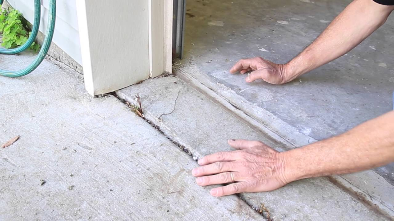 How To Set Concrete To Keep Water Out Of Garage   Baton Rouge   Overhead  Door
