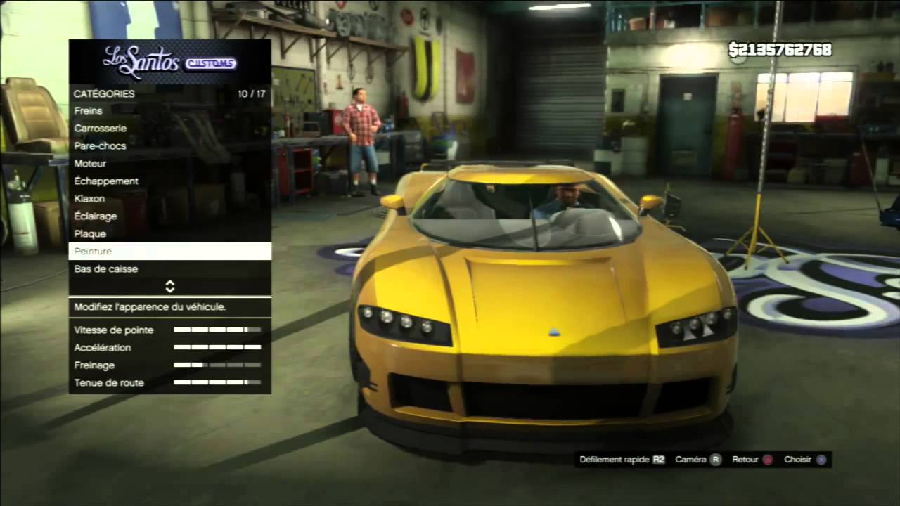 glitch astuce gta 5 avoir la couleur or sur sa voiture youtube. Black Bedroom Furniture Sets. Home Design Ideas