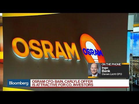 Osram CFO Says $3.8 Billion Offer Will Help to Build Portfolio