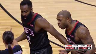 PJ Tucker And Houston Rockets Couldn't Believe This Kyle Lowry Flop