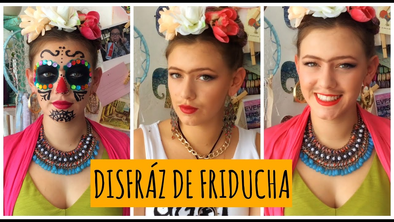 Disfrazate De Frida Kahlo 3 Ideas Diy Youtube