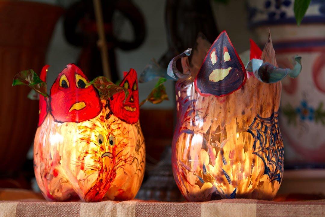 Portavelas flotantes con petalos o centro de mesa para - Decoracion mesa halloween ...