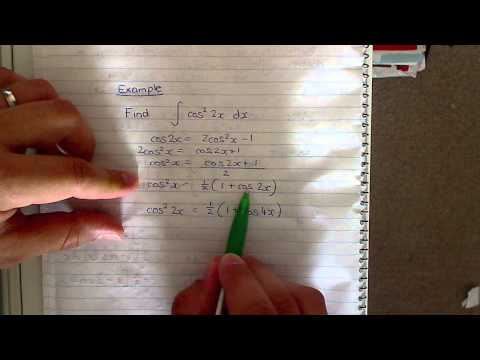 Integral of cos^2 2x