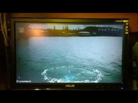 Amateur built submarine Euronaut - At periscope depth