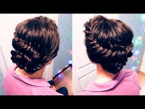 ПЛЕТЕНИЕ НА КОРОТКИЕ ВОЛОСЫ | Французские косы |  French Braid Curly Hair | LOZNITSA