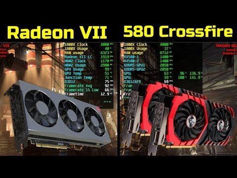 RX580 8GB Crossfire vs Radeon VII - 7 Games Split Screen 1440P