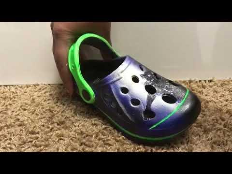 Kids custom crocs Black Panther - YouTube