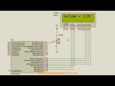 Learn to control an LCD Display With PIC Microcontroller