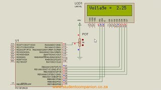 MPLAB XC8 for Beginners Tutorial -5- Interfacing an LCD Display