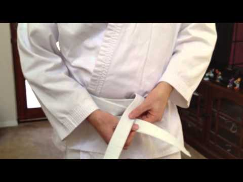 How To Correctly Tie A Karate Belt