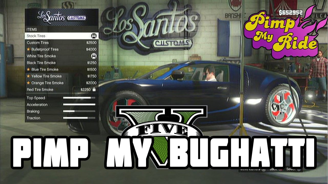 pimp my ride gta v bugatti version youtube. Black Bedroom Furniture Sets. Home Design Ideas