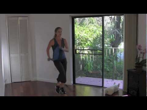 Stride & Strength II   Full 34 Minute Walking Workout with resistance band strength training