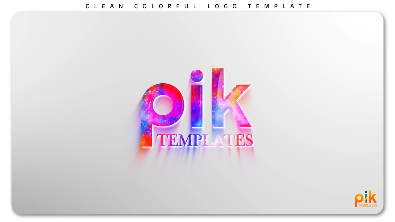 Free After Effect Logo Template #34 - Clean Colorful Logo Reveal | Pik Templates