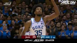 Elon vs Duke College Basketball Condensed Game 2017