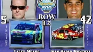2008 tums quikpak 500 starting grid