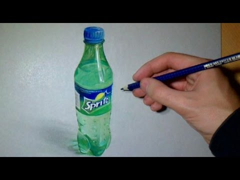 Drawing Realistic Sprite Bottle O Youtube