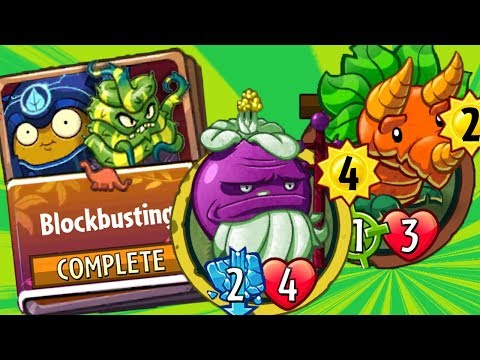 Wall Knight Blockbusting Strategy Deck Colossal Fossils Set 3 - Plants vs Zombies Heroes Gameplay
