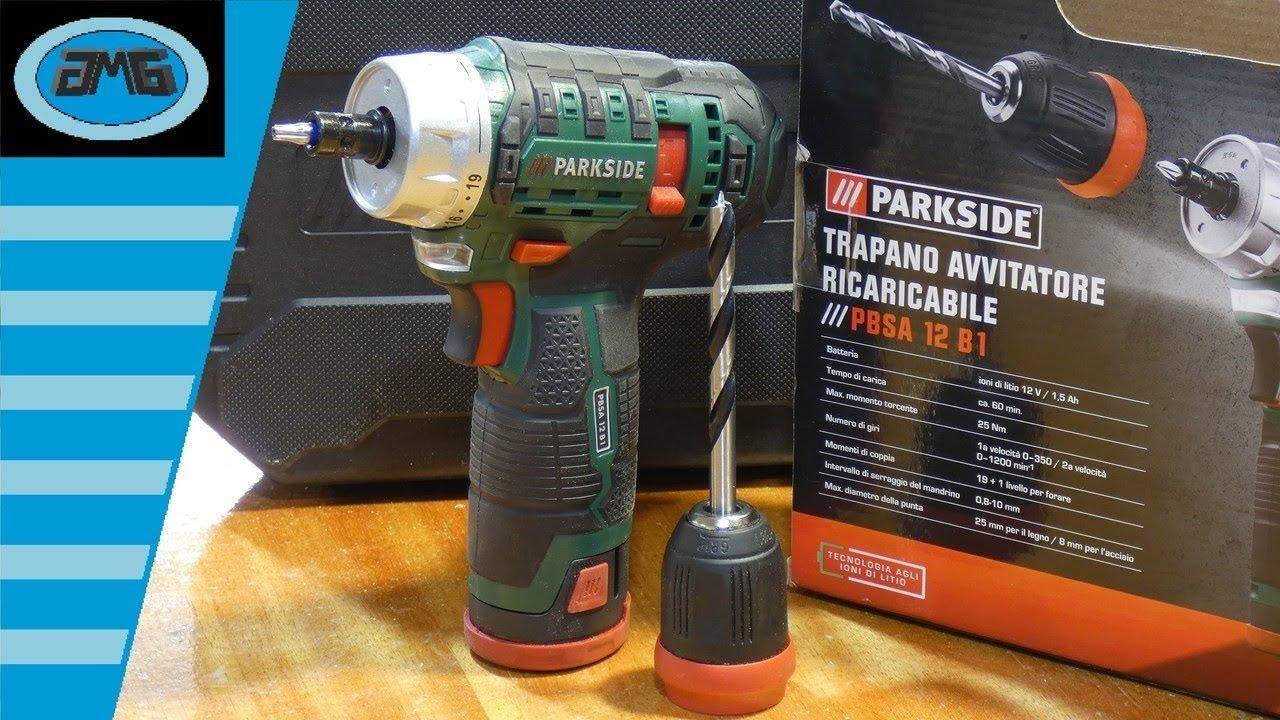 Cordless drill parkside pbsa 12 b1 trapano avvitatore for Trapano avvitatore parkside