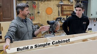 How to Build a Simple Cabinet - Great Father & Son Project