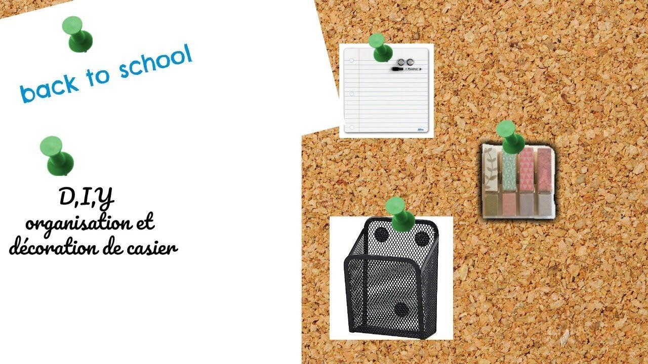 Décoration Pour Casier D École back to school : d.i.y idées d'aménagement de casier d'école