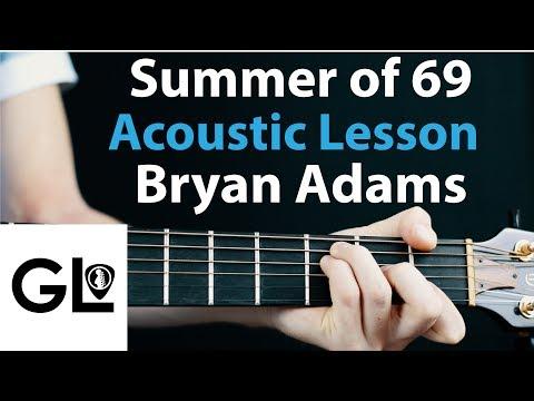 Summer of 69: Bryan Adams Acoustic Guitar Lesson EASY 🎸