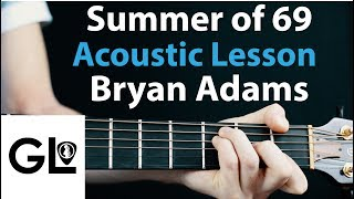 Summer of 69: Bryan Adams Acoustic Guitar Lesson EASY 🎸