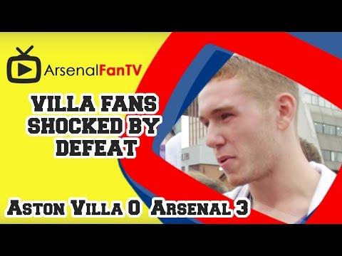 Villa Fans Shocked By Defeat - Aston Villa 0 Arsenal 3