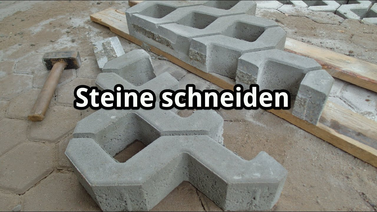 rasengittersteine schneiden mit winkelschleifer und diamant trennscheibe youtube. Black Bedroom Furniture Sets. Home Design Ideas