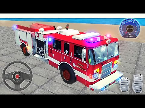 Real Fire Truck Driving Simulator - Car Driving in City Fire Fighting - Best Android GamePlay #4 |