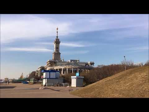 Cycling Moscow North River Terminal Embankment