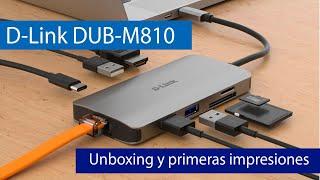 D-Link DUB-M810: Hub 8 en 1 con puerto Gigabit, USB 3.0, lector de tarjetas, HDMI y USB tipo C