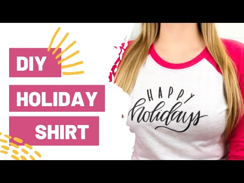 DIY Holiday Shirt | DIY Shirt with Cricut Maker and EasyPress