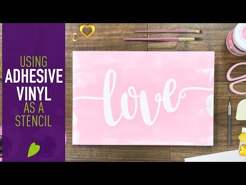 Using Adhesive Vinyl as a Stencil on Wood