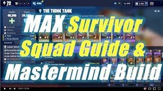 Max Survivor Squad Guide & Mastermind Build / Fortnite Save the World