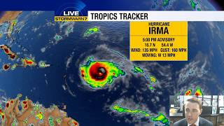 Tracking the Tropics: Hurricane Irma now a Category 4