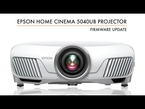 Epson Firmware Update for the Home Cinema 5040UB, Pro Cinema