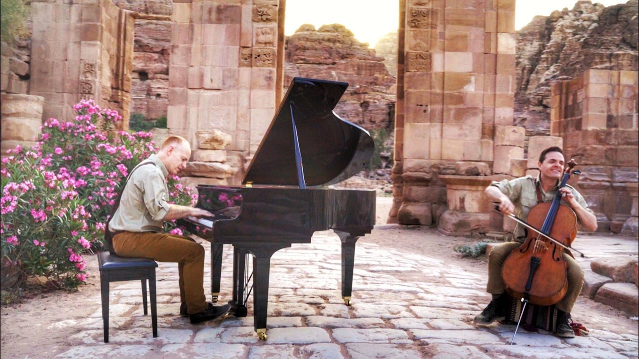 Αποτέλεσμα εικόνας για Indiana Jones Rocks Petra with this Arabian Classical Remix! - The Piano Guys