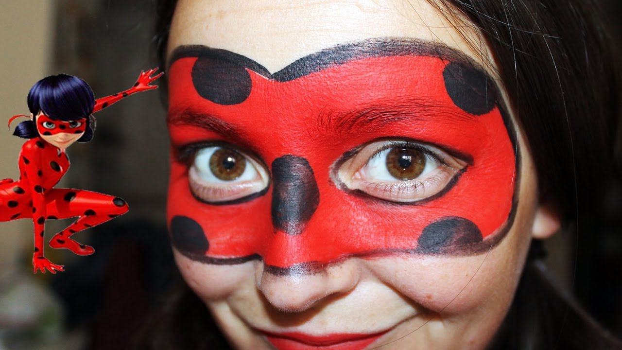 Pintacaras Ladybug// Face Painting - YouTube