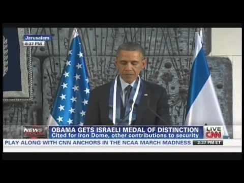 Antichrist : Obama awarded Israel's Presidential Medal of Distinction by Peres (March 21, 2013)