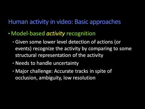 Human Activity in Video