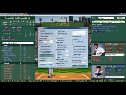 2016 Baseball Mogul 2001 Season Game Detroit Tigers vs Pittsburgh Pirates
