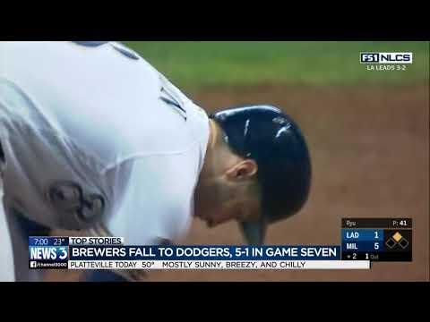 Milwaukee Brewers lose 5-1 against LA Dodgers