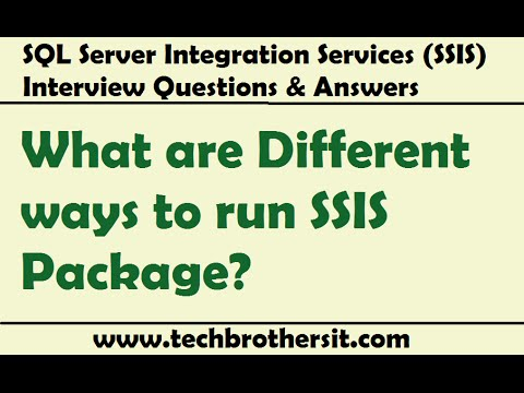 Different Ways To Run SSIS Package - SQL Server Integration Services (SSIS) Interview Question