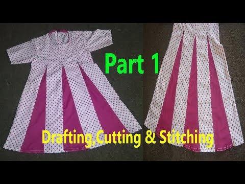 Kaliyon Wala Frock | Kalidar Frock | Drafting,Cutting & Stitching In Professional Style | Part 1