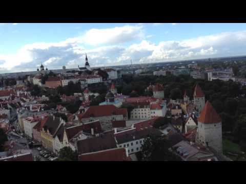 Atop St. Olav's Church (Oleviste kirik) in Tallinn, Estonia