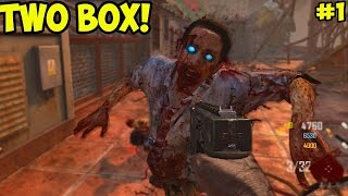"TWO BOX CHALLENGE! - Black Ops 2 ""DIE RISE"" ZOMBIES #1 (Black Ops 2 Zombies Gameplay)"