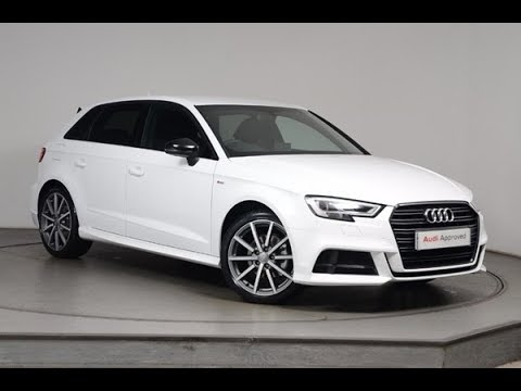fm17kgj audi a3 tdi s line black edition white 2017 nottingham audi youtube. Black Bedroom Furniture Sets. Home Design Ideas
