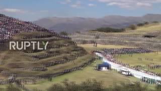 Peru: Thousands watch Inti Raymi Inca Sun Festival in imperial ruins thumbnail