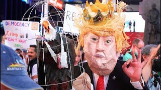 Trump's Corruption CALLED OUT In New York Protests