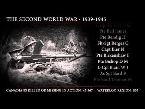 In Memoriam - War Dead from Waterloo Region